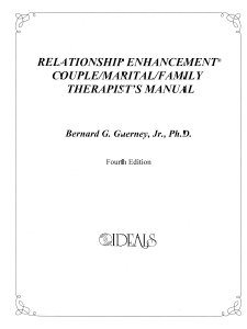 M-101 – RE Couple/Marital/Family Therapist's Manual