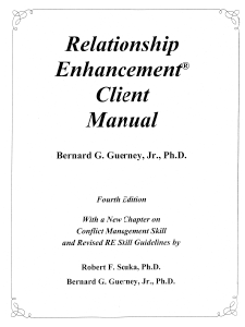 M-102 – Relationship Enhancement® Client Manual