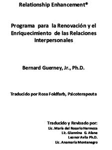 M-251 – Programma para la Renovación y el Enriquecimiento de las Relaciones Interpersonales