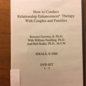 HS-102 How to Conduct RE Therapy with Couples and Families A 9 DVD set, video-based home study program which enables therapists to use RE therapy with couples and families. Includes 3 hours telephone consultation